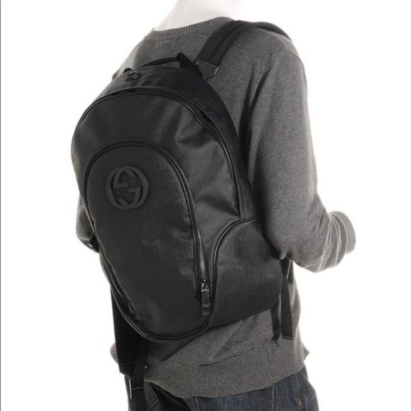1eb99cbf9c9 Gucci Handbags - Auth Gucci interlocking g coated large backpack